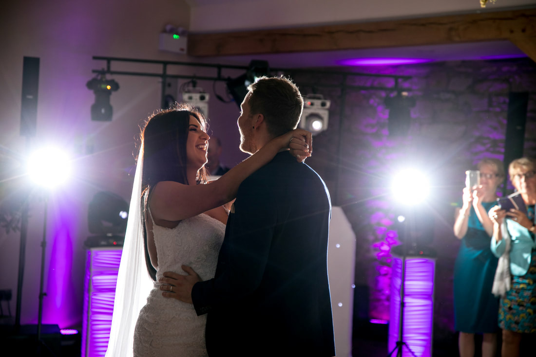 Wedding DJ welcomes Bride and Groom at Doxford Barns, Alnwick, Northumberland